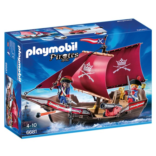 Playmobil 6681 : Pirates : Chaloupe des soldats - Playmobil-6681