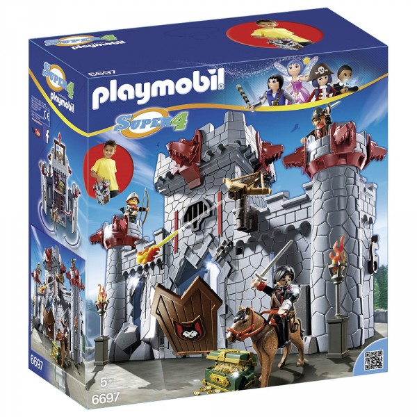 Playmobil 6697 :  Super 4 : Citadelle transportable du Baron Noir - Playmobil-6697