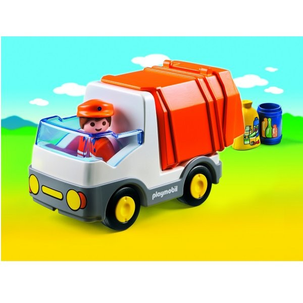 Playmobil 6774 : Camion poubelle 1.2.3 - Playmobil-6774