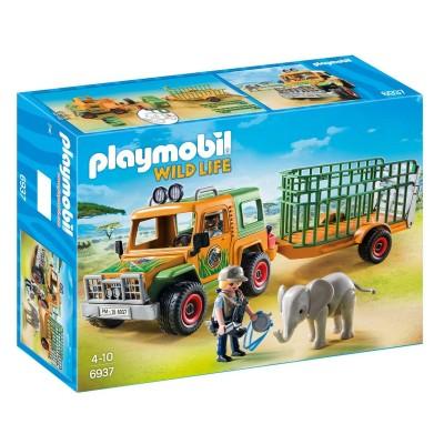 playmobil 6937 wild life v hicule avec l phanteau et soigneurs jeux et jouets playmobil. Black Bedroom Furniture Sets. Home Design Ideas