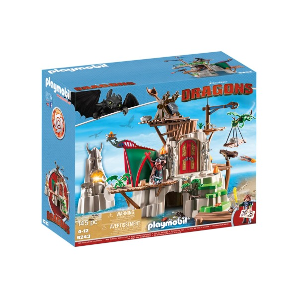 Playmobil 9243 : Dragons : Campement de l'île de Beurk - Playmobil-9243