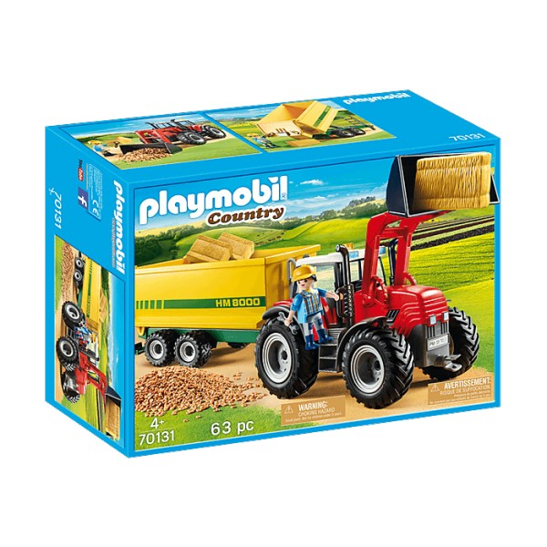 Playmobil 70131 Country : Grand tracteur avec remorque - Playmobil-70131