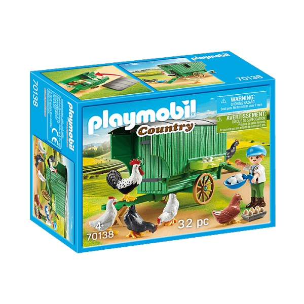 Playmobil 70138 Country : Enfant et poulailler - Playmobil-70138