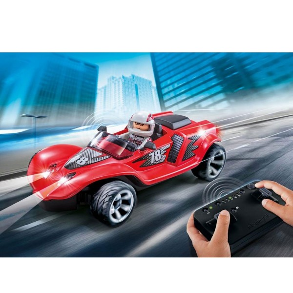 playmobil 9090 action voiture de course rouge radiocommand e jeux et jouets playmobil. Black Bedroom Furniture Sets. Home Design Ideas