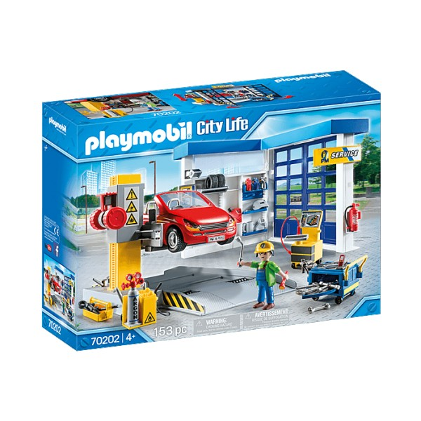 Playmobil 70202 City Life : Garage automobile - Playmobil-70202