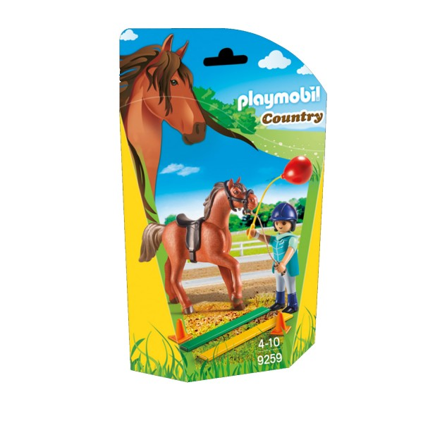 Playmobil 9259 Country : Ecuyère avec cheval - Playmobil-9259