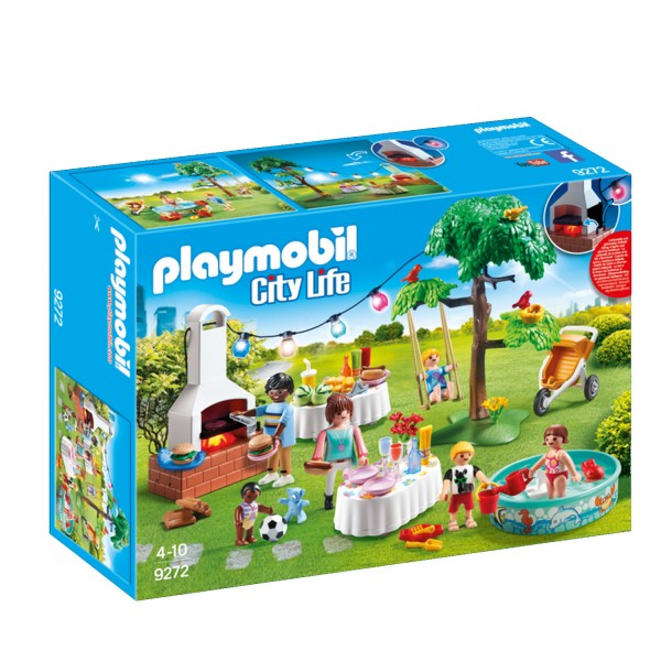 Playmobil 9272 City Life : Famille et barbecue estival - Playmobil-9272