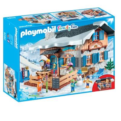 Playmobil 9280 Family Fun Chalet Avec Skieurs Playmobil Le