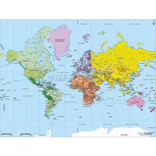 puzzle carte du monde en bois imvt. Black Bedroom Furniture Sets. Home Design Ideas