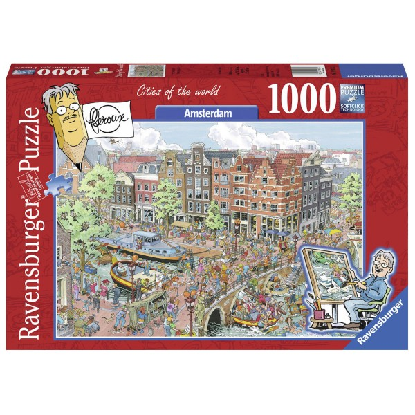 Puzzle 1000 pièces : Cities of the World : Amsterdam - Ravensburger-19924