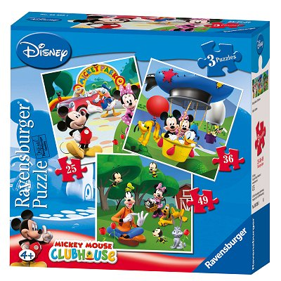 3 puzzles mickey et ses amis mickey mouse clubhouse jeux et jouets ravensburger avenue - Mickey mouse et ses amis ...
