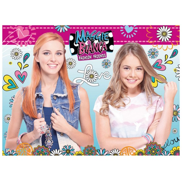 Puzzle 100 pièces XXL : Maggie et Bianca Fashion Friends - Ravensburger-10714