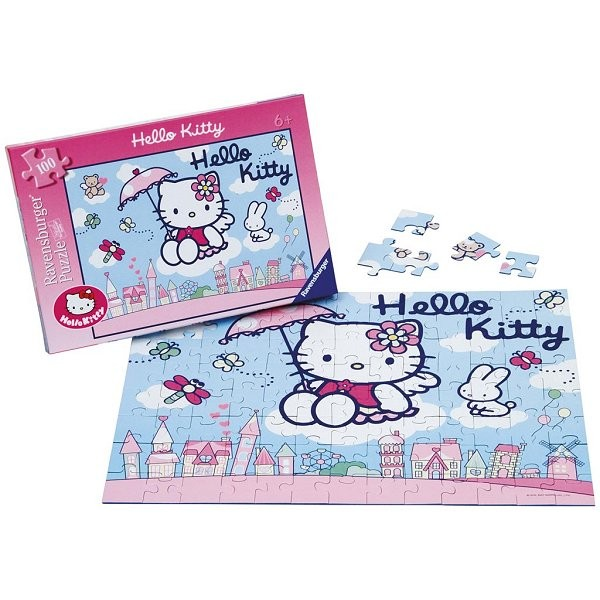 Puzzle 100 pièces - Hello Kitty - Ravensburger-10801