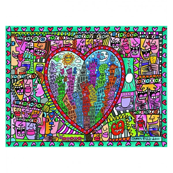 Puzzle 1500 pièces Rizzi : All that love - Ravensburger-16295