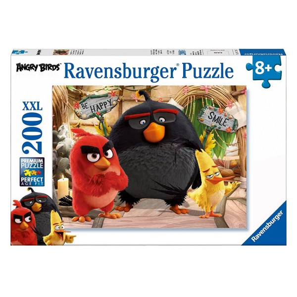 Puzzle 200 pièces XXL : Red, Bomb et Chuck - Angry Birds - Ravensburger-12830