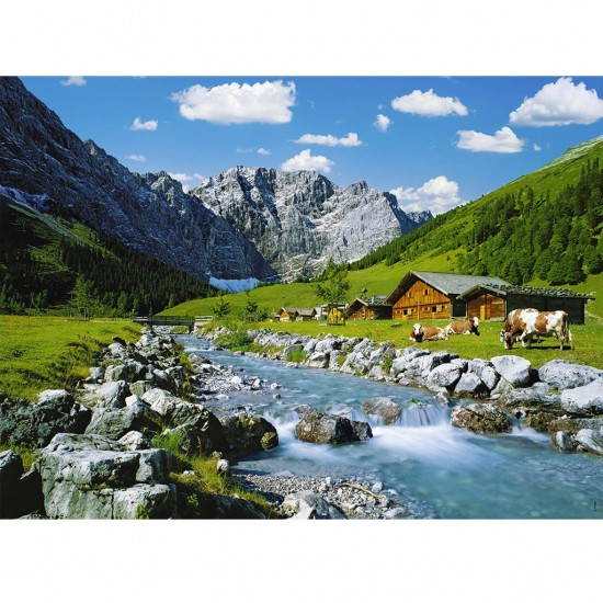 puzzle 300 pi ces la montagne des karwendel puzzle ravensburger rue des puzzles. Black Bedroom Furniture Sets. Home Design Ideas
