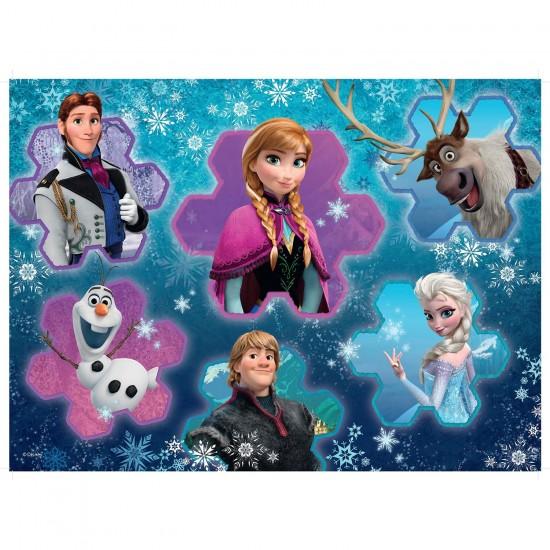 Puzzle 300 pi ces xxl la reine des neiges frozen audacieuse et imperturbable puzzle - Veilleuse reine des neiges ...