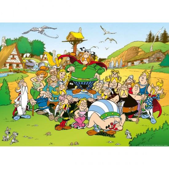 Puzzle 500 pi ces ast rix et ob lix ast rix au village - Personnage asterix et obelix ...