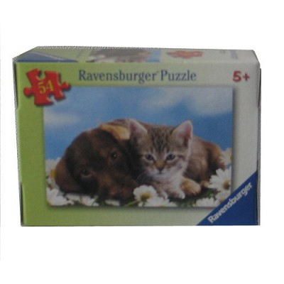 puzzle 54 pi ces comme chiens et chats puzzle. Black Bedroom Furniture Sets. Home Design Ideas
