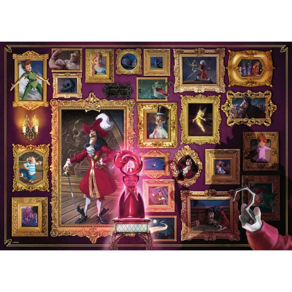 Puzzle 1000 pièces : Capitaine Crochet (Collection Disney Villainous) - Ravensburger-15022