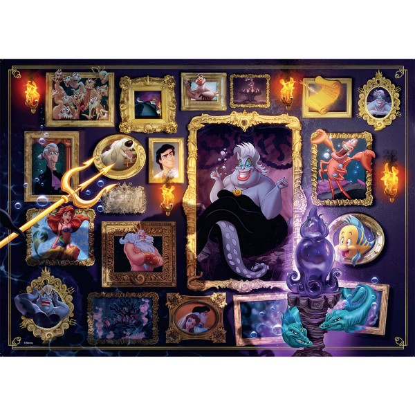 Puzzle 1000 pièces : Ursula (Collection Disney Villainous) - Ravensburger-15027