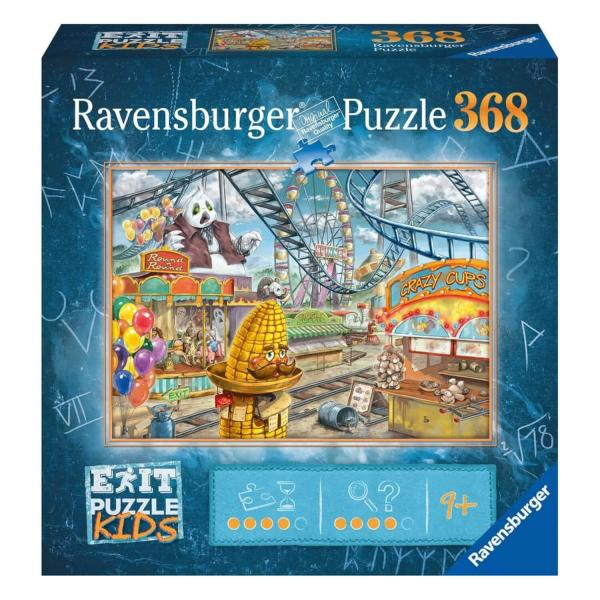 Escape puzzle Kids 368 pièces : Le parc d'attractions - Ravensburger-12936