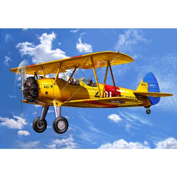 Maquette avion : Model-Set : Stearman Kaydet - Revell-64676