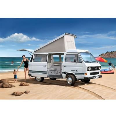 maquette bus model set volkswagen t3 camper peinture et colle fournies revell rue des. Black Bedroom Furniture Sets. Home Design Ideas