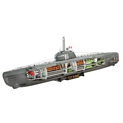 Maquette sous-marin : U-Boot Type XXI U 2540 & Interieur - Revell-05078