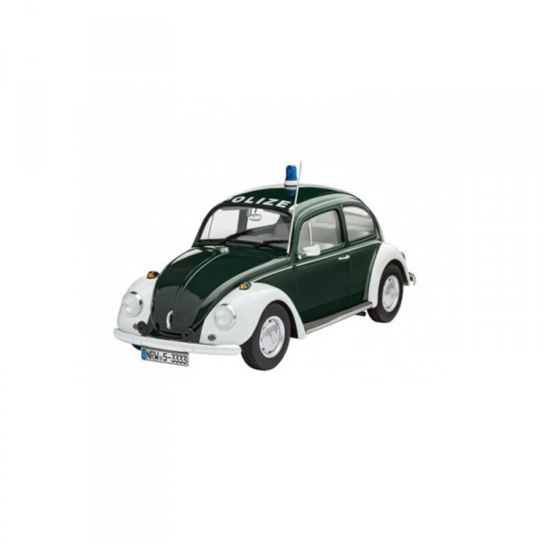 Maquette voiture : Model Set : VW Beetle Police - Revell-67035