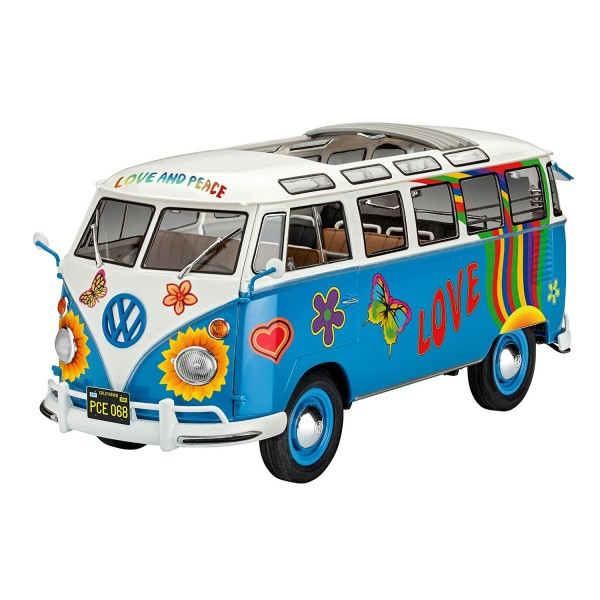 Maquette Véhicule : Samba Bus Flower Power - Revell-07050