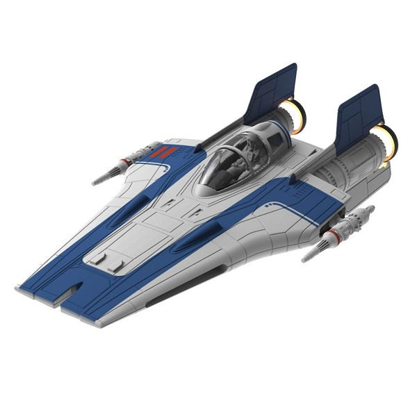 Maquette Star Wars : Build & Play : Resistance A-Wing Fighter : Bleu - Revell-06762
