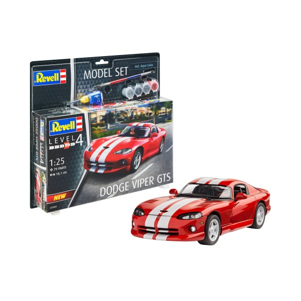 Maquette voiture : Model Set : Dodge Viper GTS - Revell-67040