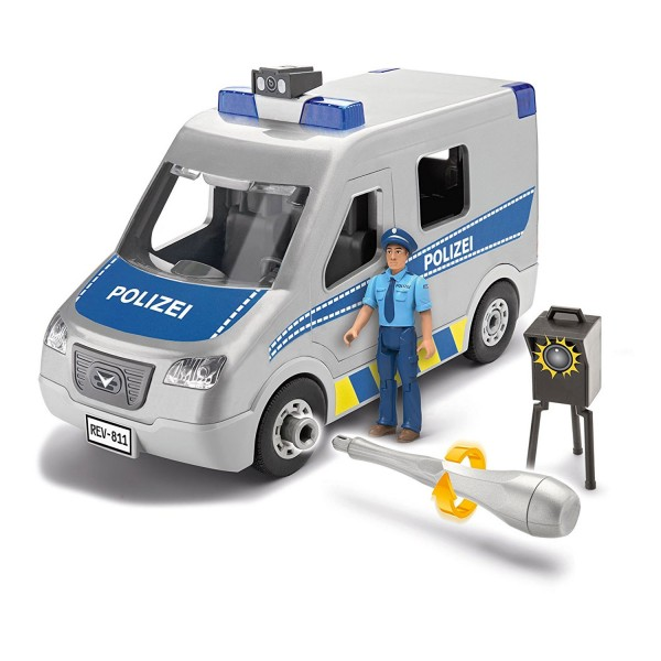 Maquette Véhicule Junior Kit : Van Police - Revell-00811