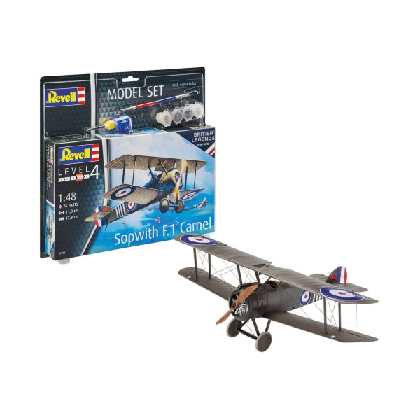 Maquette avion : Model Set : British Legends : Sopwith Camel - Revell-63906