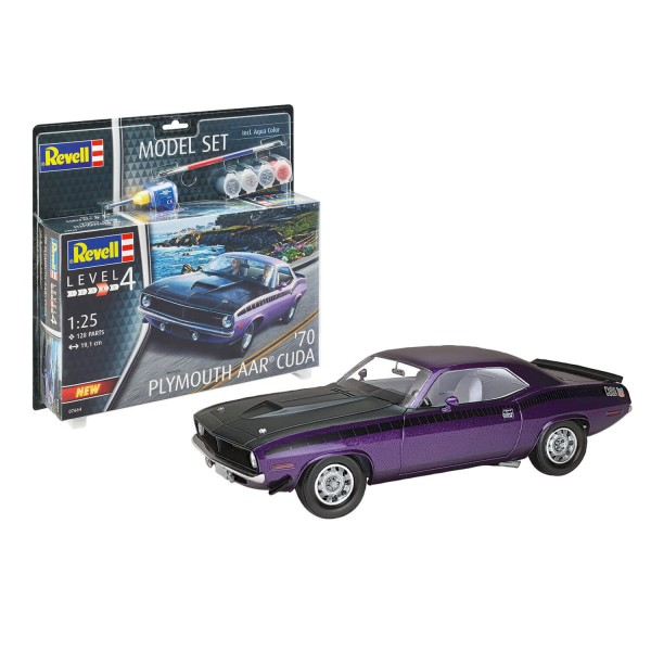 Maquette voiture : Model Set : 1970 Plymouth AAR Cuda - Revell-67664