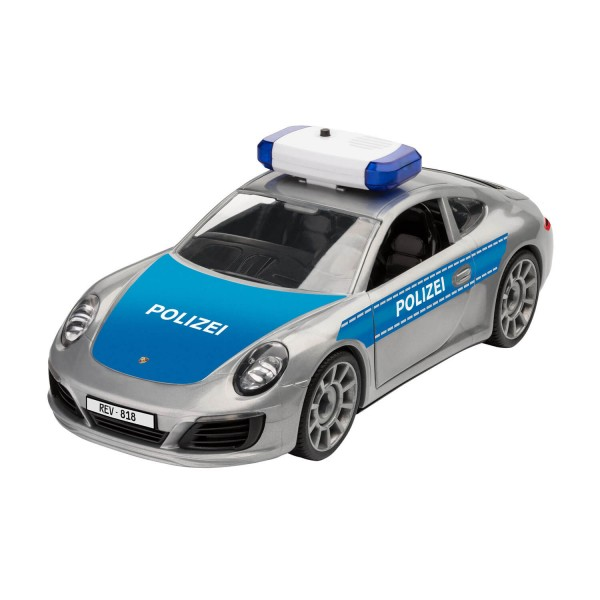 Maquette voiture : Junior Kit : Porsche 911 Targa 4S - Polizei - Revell-00818