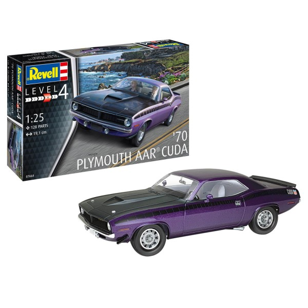 Maquette Voiture : Plymouth AAR Cuda 1970 - Revell-7664
