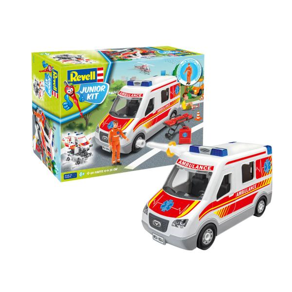 Maquette camion : Junior Kit : Ambulance avec figurine - Revell-00824