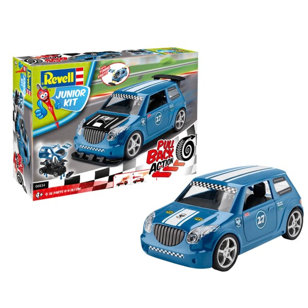 Maquette voiture : Junior Kit : Pull back Action : Voiture de rallye bleue - Revell-00834