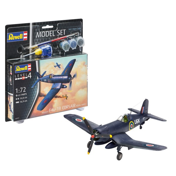 Maquette avion : Model Set :  F4U-1B Corsair Royal - Revell-63917