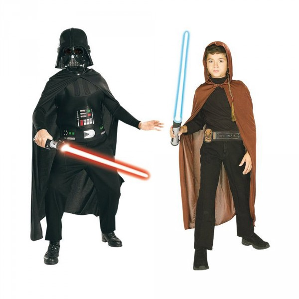 Déguisement Star Wars Coffret : Dark Vador et Jedi - Rubies-155011-Parent