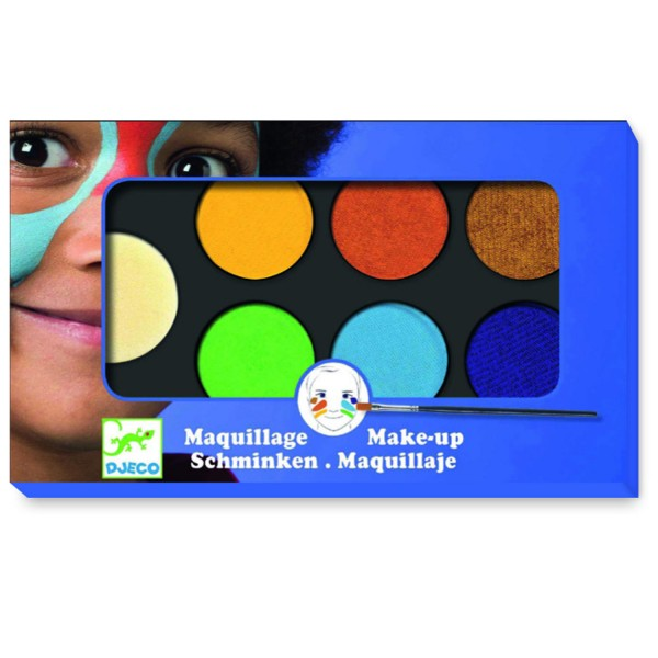 Palette de maquillage 6 couleurs  : Nature - Djeco-DJ09230