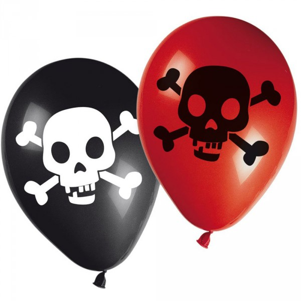 Ballons Latex Carte aux Trésor Pirate x8 - 81971