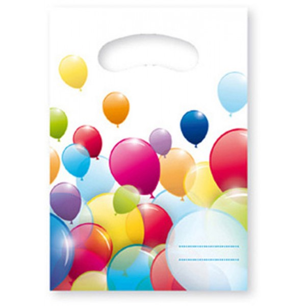 Sachets Anniversaire Flying Balloons x6 - 80700
