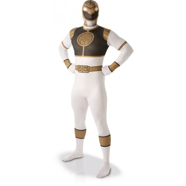 Déguisement Seconde Peau Power Rangers™ Adulte - Blanc - I-810946-Parent