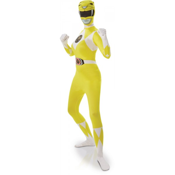 Déguisement Seconde Peau Power Rangers™ Adulte - Jaune - I-810951-Parent