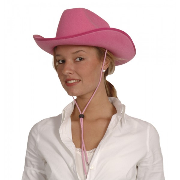 Chapeau Cowboy du Far West Rose - 04074RO-Parent