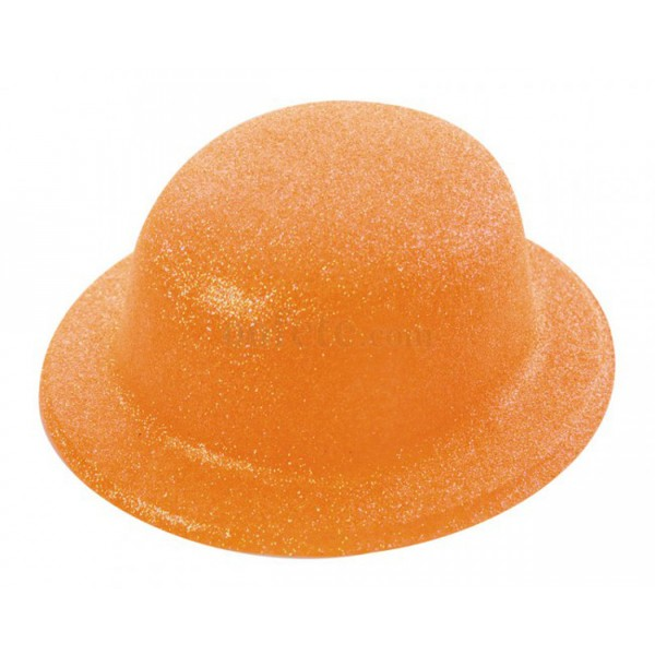 Chapeau Melon Paillette Orange - 33388