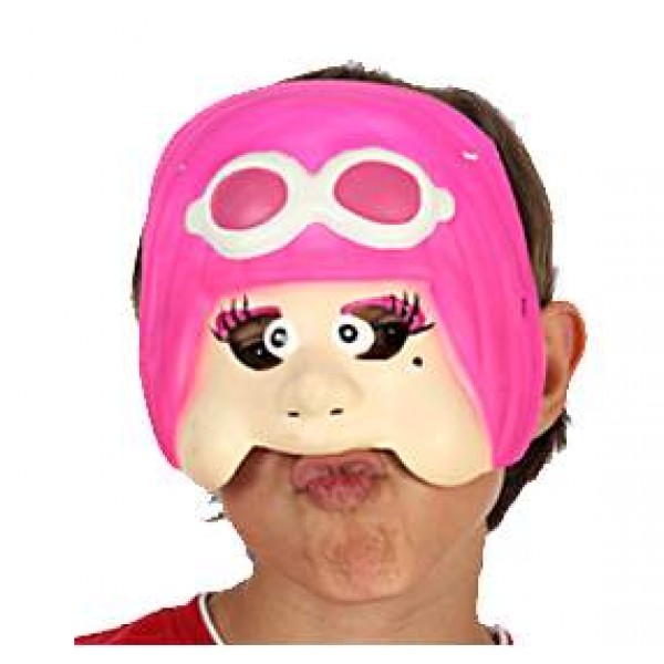Demi Masque Enfant - Pilote Fille - 95825-Parent